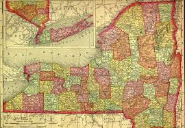 Ny County Map 1895 Map Of New York State By County By Rand Mcnally