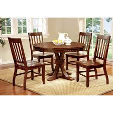 furniture of america fort wooden 5 piece counter height round