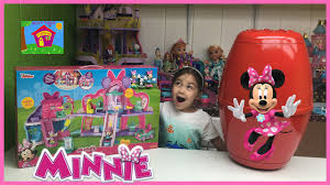 Minnie Mouse Toy Box Huge Surprise Egg Opening Disney Junior Minnie Mouse Toys Kids