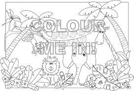 jungle animals coloring pages glum me