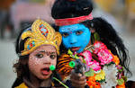 Wallpapers Backgrounds - Indian children dressed Hindu God Shiva Parvati