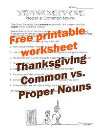 thanksgiving worksheets second grade thanksgiving common vs proper nouns worksheet 2 squarehead teachers