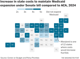 Map Policy The Senate Health Care Bill Basically Forces States To End