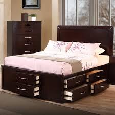 furniture platform beds fabulous dark brown color wooden bed