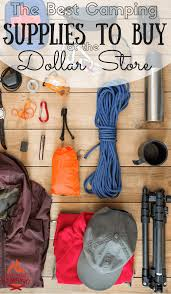 collection of dollar store frugal camping supplies the homestead