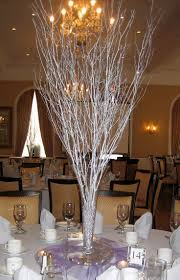 Silver Centerpieces For Table 23 Best Wedding Ideas Images On Pinterest Branch Centerpieces