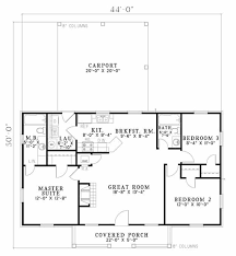 traditional style house plan 3 beds 2 00 baths 1100 sq ft plan