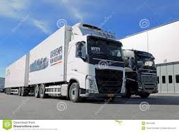 new volvo trucks for sale volvo fh 500 and volvo fh16 750 wood pro trucks editorial image