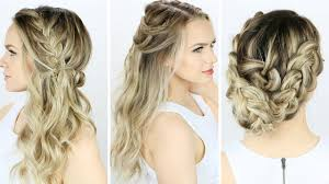 3 prom or wedding hairstyles you can do yourself youtube