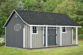 Free Saltbox Wood Shed Plans by 14 U0027 X 16 U0027 Cape Code Storage Shed With Porch Plans P81416 Free