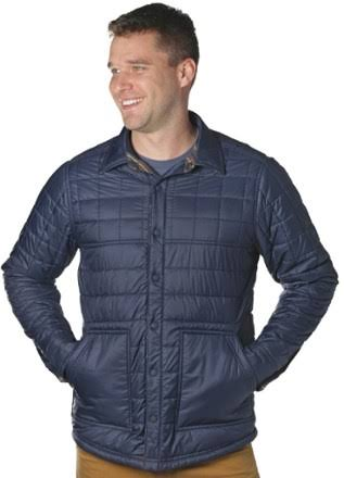 Outdoor Research Kalaloch Reversible Shirt Jacket Naval Blue Plaid Large 2681131400008