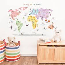 map of the world wall decals jojo maman bebe