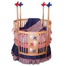 airplane round baby crib bedding by beautiful baby