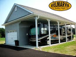 34x45x14 car garage and rv port pole building for the home