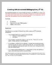 dianahacker com     annotated bibliography example