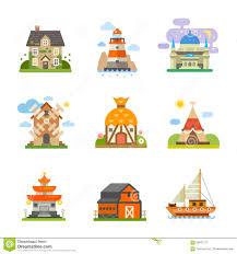 world houses stock vector image 58837277