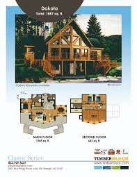 Open Floor Plans Log Homes The Dakota Model In Timber Block U0027s Classic Series Is A Favorite
