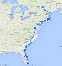 Map Of Florida Cities And Towns by The Best Ever East Coast Road Trip Itinerary