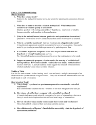 What Is In Law Unit Unit A The Science Of Biology Q U0026a