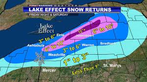 Weather Map Ohio Patchy Freezing Drizzle Tonight Inland Lake Effect Snow Frid