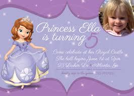 birthday invites stylish sofia the first birthday invitations