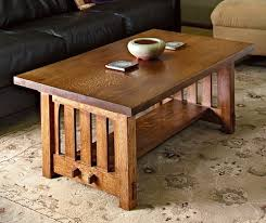 how to build a mission style coffee table in the arts and crafts