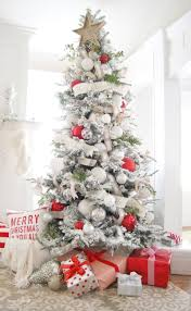 Christmas Home Decorations Pictures Best 25 White Christmas Trees Ideas On Pinterest White