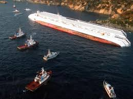 Concordia e battelli soccorso