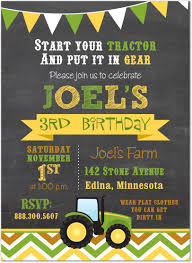 birthday invites tractor birthday invitations celebrate children