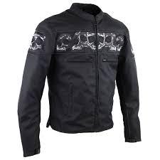 reflective bike jacket reflective skull textile motorcycle jacket jafrum