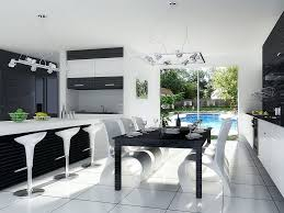 3d interior modern kitchen black and white by cobraromania on