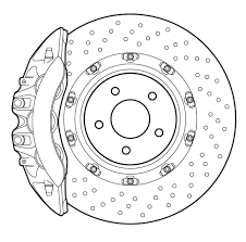 nissan gtr brake rotors detailed vector line drawing of high performance automotive disc