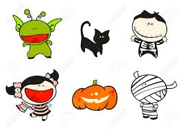 funny kids 56 halloween costumes royalty free cliparts vectors