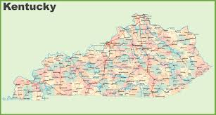 Ohio Kentucky Map by Kentucky State Maps Usa Maps Of Kentucky Ky
