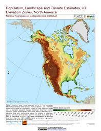N America Map by Maps Population Landscape And Climate Estimates Place V3