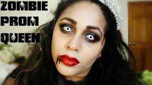 dead makeup halloween zombie prom queen bride halloween makeup youtube