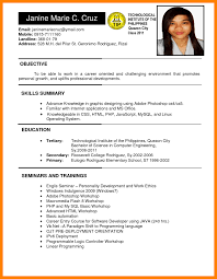 educational attainment example in resume 7 resume philippines sample resume for cna 7 resume philippines sample