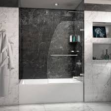 shower doors tub enclosures glass door and hinged frameless