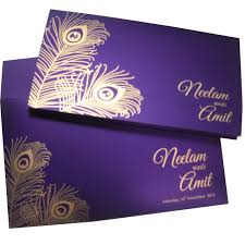 indian wedding cards w 1104 with shimmery finish paper