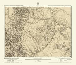 Southern Colorado Map by Topographical Map Colorado U0026 Mexico 1876