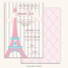 printable invitations baby shower invitation parisian