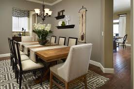 Extraordinary  Metal Tile Dining Room  Design Decoration Of - Decor for dining room table