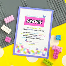 Printable Invitation Card Stock Lego Friends Loving Little Girls A Perfect Birthday Party Theme