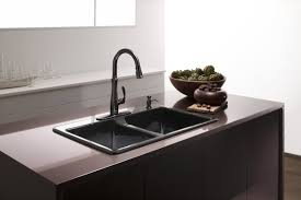 Kitchen Sink With Faucet Set Brass Oil Rubbed Bronze Faucet Kitchen Single Hole Two Handle Pull
