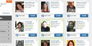 Screenshot of list of dating profiles DatingAdvice com