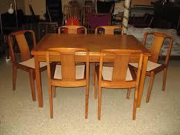 danish modern dining room set mid century modern dining room set