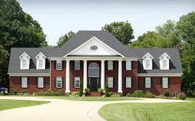 exclusive georgian house plan with basement garage 77606fb