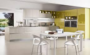 kitchen color scheme u shaped green painted wooden kitchen