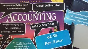 Accounting homework help Online Tutor  Assignment help  Tuition  MBA help  Algebra help