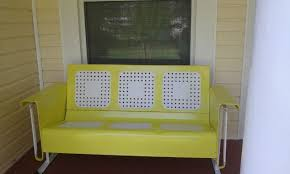 new life for a vintage glider and chairs hometalk